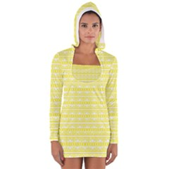 Pattern Women s Long Sleeve Hooded T-shirt