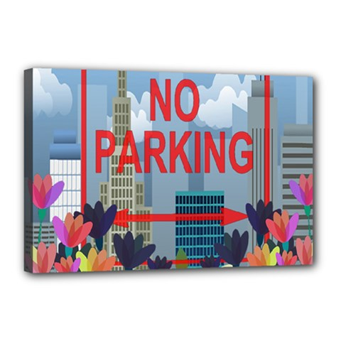 No parking  Canvas 18  x 12