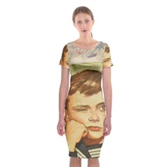 Little sailor  Classic Short Sleeve Midi Dress