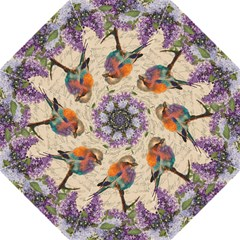 Vintage bird and lilac Folding Umbrellas