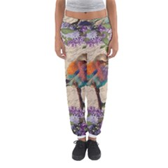 Vintage Bird And Lilac Women s Jogger Sweatpants