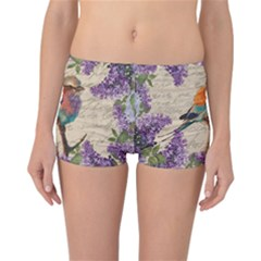 Vintage bird and lilac Reversible Bikini Bottoms