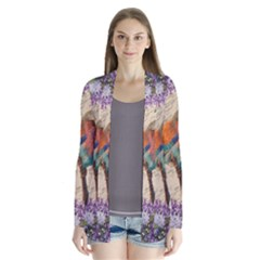 Vintage bird and lilac Cardigans