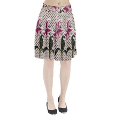 Vintage flowers Pleated Skirt