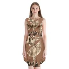 Bon-ton Sleeveless Chiffon Dress