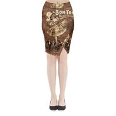 Bon-ton Midi Wrap Pencil Skirt