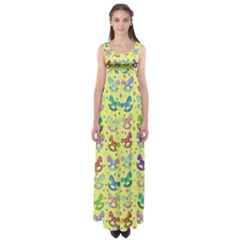Toys pattern Empire Waist Maxi Dress