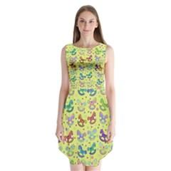 Toys pattern Sleeveless Chiffon Dress