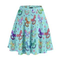 Toys pattern High Waist Skirt