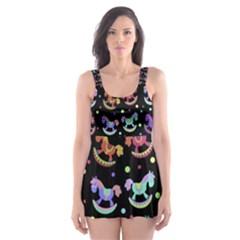 Toys pattern Skater Dress Swimsuit