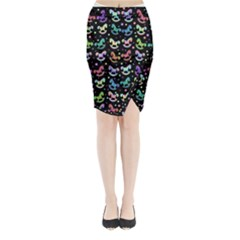 Toys pattern Midi Wrap Pencil Skirt