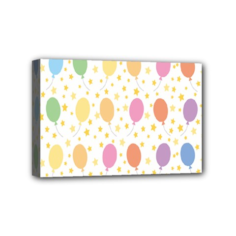 Balloon Star Rainbow Mini Canvas 6  X 4