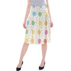 Balloon Star Rainbow Midi Beach Skirt