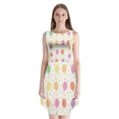 Balloon Star Rainbow Sleeveless Chiffon Dress