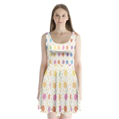 Balloon Star Rainbow Split Back Mini Dress