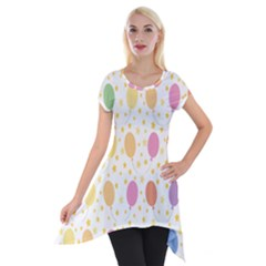 Balloon Star Rainbow Short Sleeve Side Drop Tunic