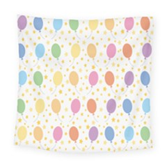 Balloon Star Rainbow Square Tapestry (large)