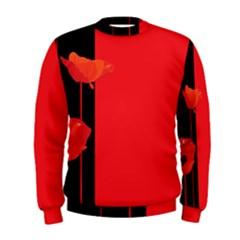 Flower Floral Red Back Sakura Men s Sweatshirt