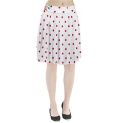 Flower Floral Polka Dot Orange Pleated Skirt