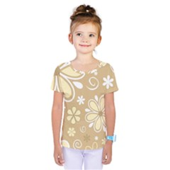 Flower Floral Star Sunflower Grey Kids  One Piece Tee