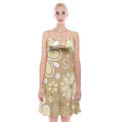 Flower Floral Star Sunflower Grey Spaghetti Strap Velvet Dress