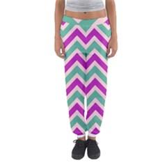 Zig Zags Pattern Women s Jogger Sweatpants