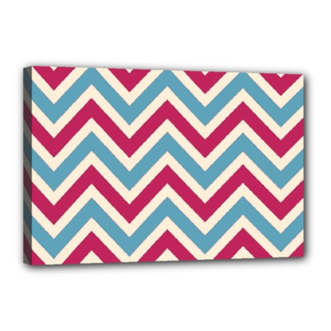 Zig zags pattern Canvas 18  x 12
