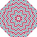 Zig zags pattern Straight Umbrellas View1