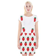 Fruit Strawberries Red Green Suspender Skirt