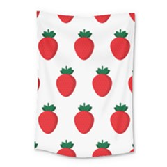 Fruit Strawberries Red Green Small Tapestry