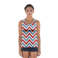 Zig zags pattern Women s Sport Tank Top