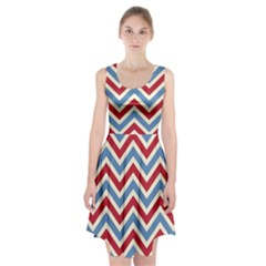 Zig zags pattern Racerback Midi Dress