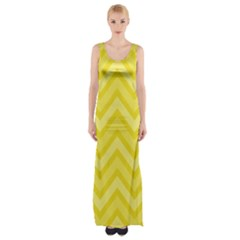 Zig zags pattern Maxi Thigh Split Dress