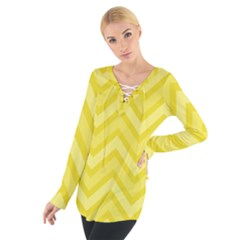 Zig zags pattern Women s Tie Up Tee