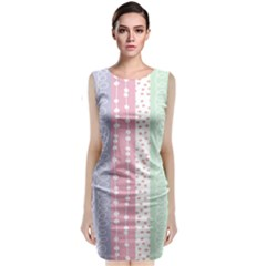 Heart Love Valentine Polka Dot Pink Blue Grey Purple Red Classic Sleeveless Midi Dress