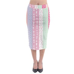 Heart Love Valentine Polka Dot Pink Blue Grey Purple Red Midi Pencil Skirt