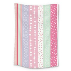 Heart Love Valentine Polka Dot Pink Blue Grey Purple Red Large Tapestry
