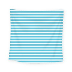 Horizontal Stripes Blue Square Tapestry (small)