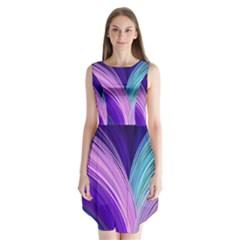 Color Purple Blue Pink Sleeveless Chiffon Dress