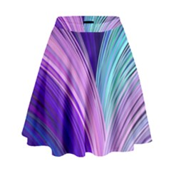 Color Purple Blue Pink High Waist Skirt