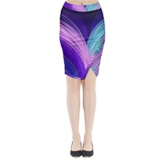 Color Purple Blue Pink Midi Wrap Pencil Skirt