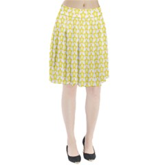 Yellow Orange Star Space Light Pleated Skirt