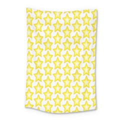 Yellow Orange Star Space Light Small Tapestry