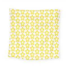 Yellow Orange Star Space Light Square Tapestry (small)