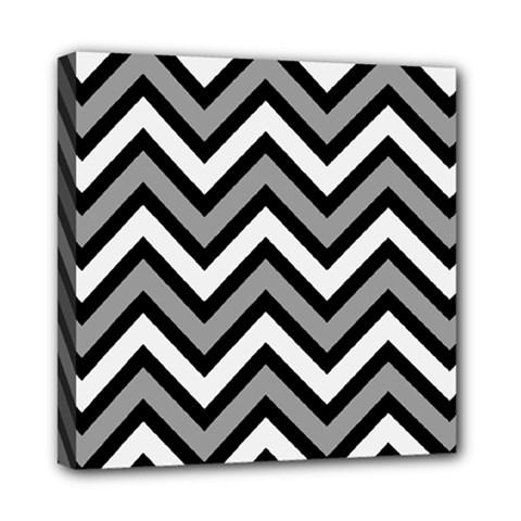 Zig zags pattern Mini Canvas 8  x 8