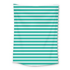 Horizontal Stripes Green Teal Medium Tapestry