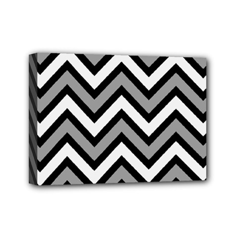 Zig zags pattern Mini Canvas 7  x 5