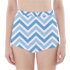 Zig zags pattern High-Waisted Bikini Bottoms