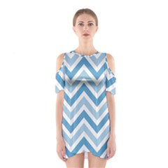 Zig zags pattern Shoulder Cutout One Piece