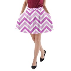 Zig zags pattern A-Line Pocket Skirt